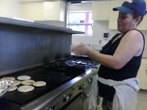 Cooking pupusas