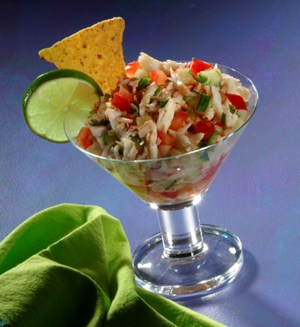 Crab Ceviche- Photo Credit Bakespace.com