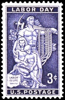 Labor Day Stamp USDOL