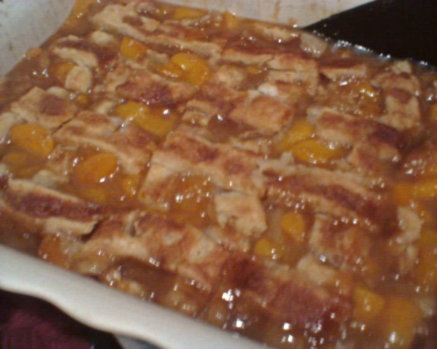 Rebekah's peach cobbler