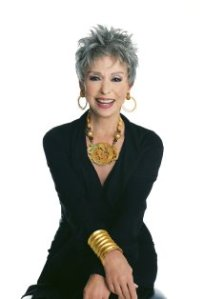 Rita Moreno in black