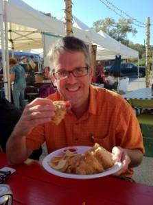 Dave eating Monte Cristo