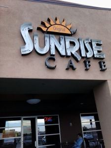 Sunrise Cafe storefront