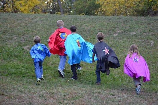 Superfly kids running