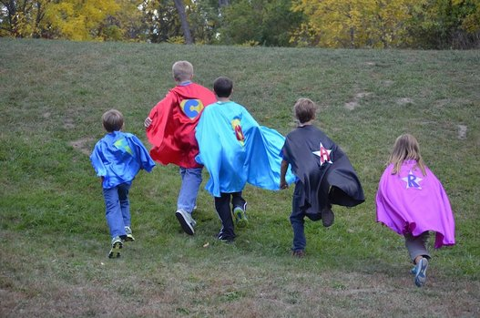 Superfly kids running