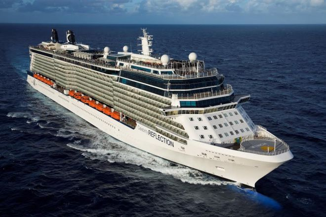 Aerial Celebrity Reflection off Florida coastline on December 2nd Inaugural CruiseCelebrity Reflection - Celebrity Cruises