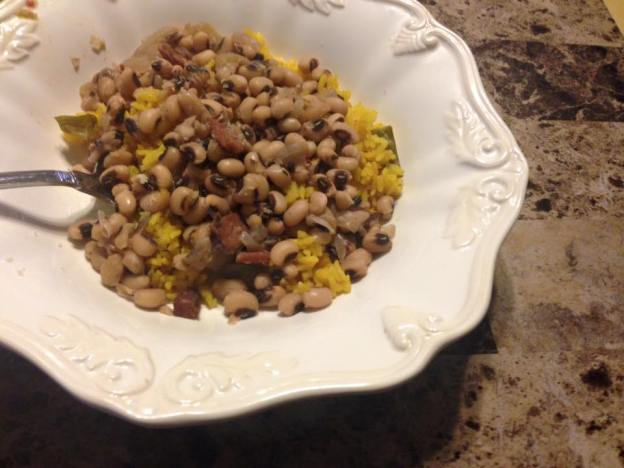 blackeyed peas over rice