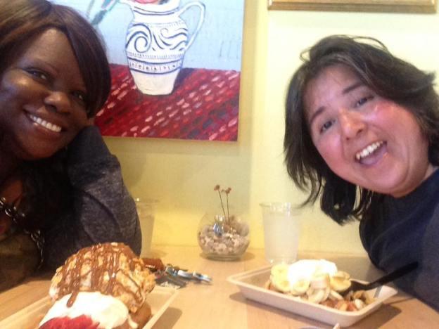 Crystal and Nat at Waffle Love