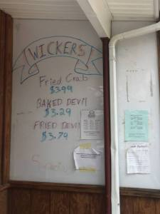 Wickers sign